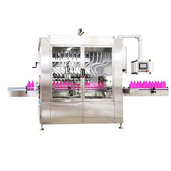 Flüssigkeitsfüllmaschine mit abgewinkeltem Hals und Schwerkraft